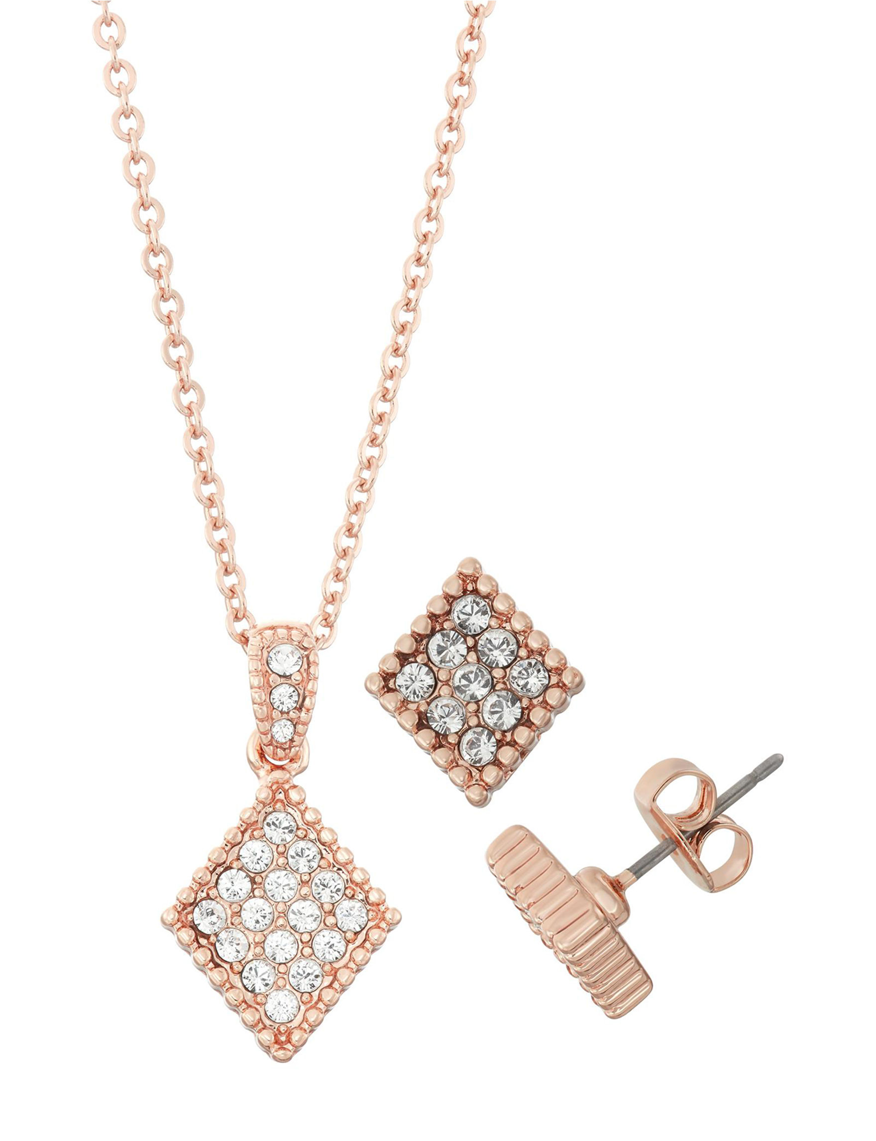 Crystal Colors Rose Gold Jewelry Sets Fine Jewelry