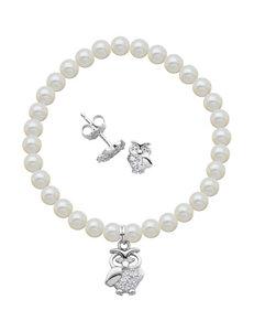 Lulabelle 2-pc. Owl Earrings & Bracelet Set