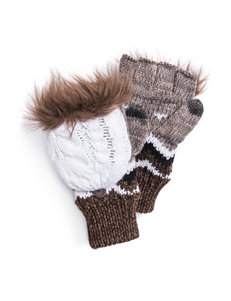 Muk Luks Brown Gloves & Mittens