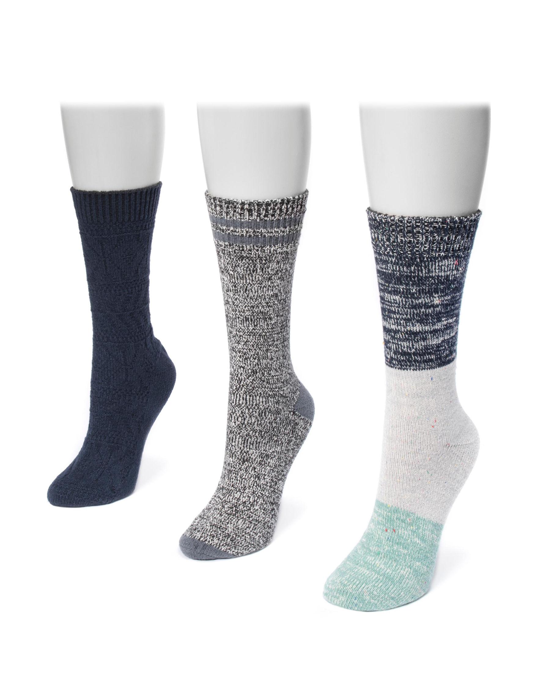 Muk Luks Navy Socks