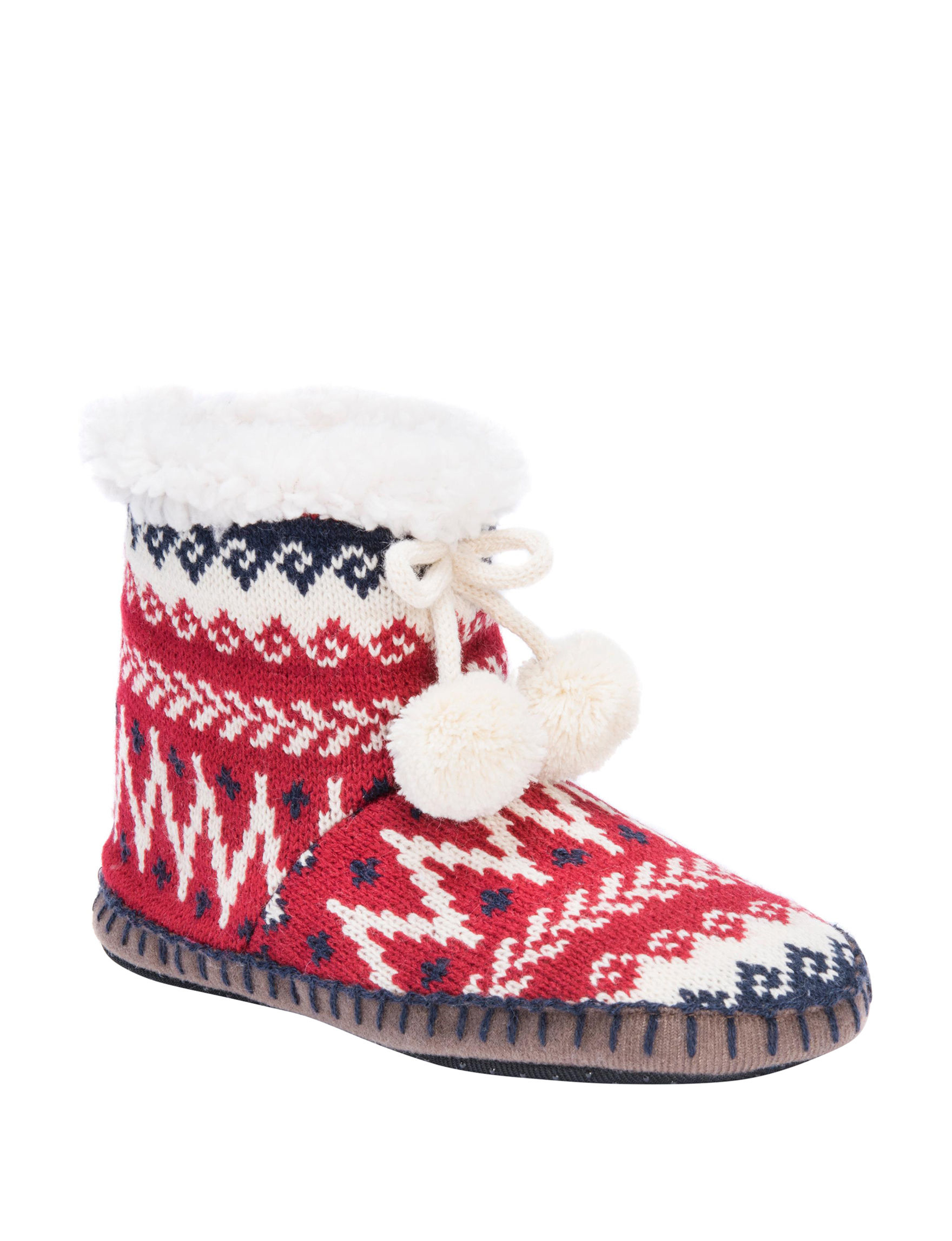 Muk Luks Candy Apple Slipper Boots & Booties