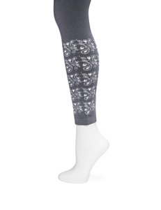 Muk Luks Charcoal Tights & Hosiery