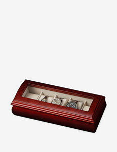 Mele & Co. Emery Glass Top Wooden Watch Box