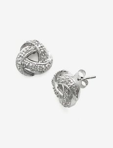 Marsala Silver Studs Earrings Fine Jewelry