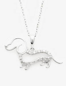 1/10 CT. T.W. Diamond Sterling SIlver Dachshund Pendant
