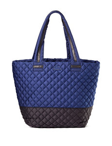 Steve Madden Color Block Brover Quilted Nylon Tote Handbag