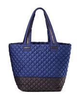 Steve Madden Color Block Brover Quilted Nylon Tote Handbag