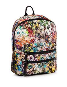 Steve Madden Floral Print Quilted Backpack
