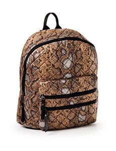 Steve Madden Snake Print Quilted Backpack