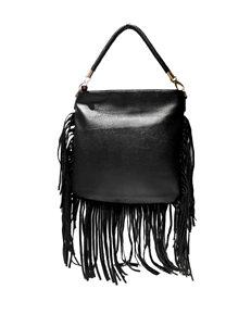 Olivia Miller Fringe Zip Shoulder Handbag