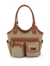 Koltov 2-Tone Taupe Reflex Tote Handbag