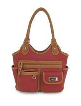 Koltov 2-Tone Red Reflex Tote Handbag