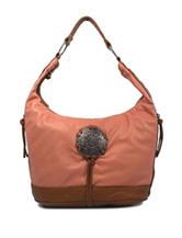 Bueno Medallion Washed Hobo Handbag