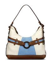 B.O.C. Nayarit Sky Blue Color Block Hobo Handbag