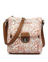 B.O.C. Vera Cruz Coral Paisley Crossbody Handbag