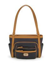 Koltov Omega Hunter Black & Tan Tote Handbag