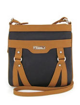 Koltov Holly Hunter Black & Tan Crossbody Handbag