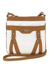 Koltov Holly Hunter White & Tan Crossbody Handbag