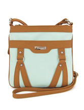 Koltov Holly Hunter Mint & Tan Crossbody Handbag