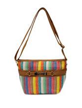 Rosetti Striped Bay Breeze Crossbody Bag