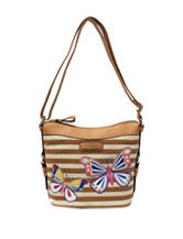Rosetti Striped Savannah Garden Handbag