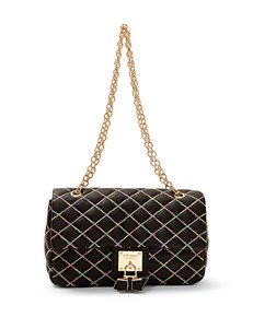 Betsey Johnson Cotton Candy Flap Shoulder Handbag