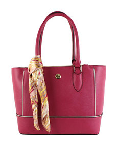 London Fog Rita Shopper Handbag with Scarf