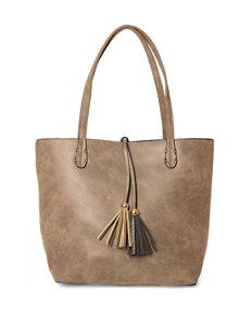Valerie Stevens Bag-within-a-Bag Reversible Tassel Tote Bag