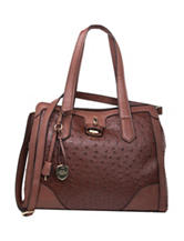 London Fog Skyler Triple Entry Tote Handbag