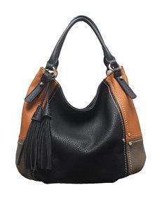 SR2 Faux Leather Patchwork Hobo Bag