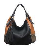 SR2 Faux Leather Patchwork Hobo Bag