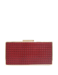 Sondra Roberts Embossed Diamond Faux Leather Clutch