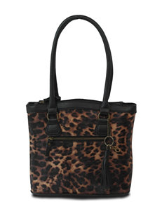 Bueno Rounded Top Leopard Print Tote Bag