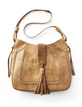 Steven Braided Saddle Tassel Tote Bag
