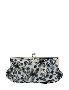 La Regale Beaded Floral Pouch Clutch