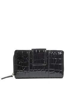 Madison Spencer Faux Croco Zip Around Wallet