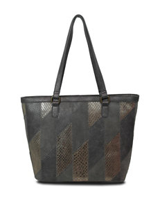 Bueno Metallic Patch Tote