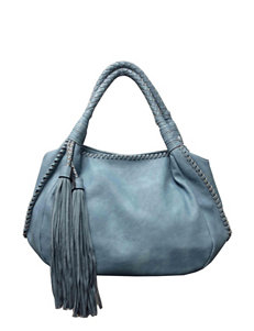 Sondra Roberts Antiqued Nappa Hobo Bag