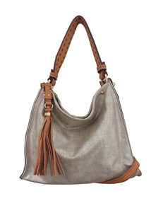 Sondra Roberts Large Linen Hobo Bag