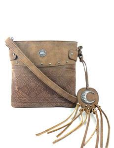 Signature Studio Aztec Etched Crossbody Bag