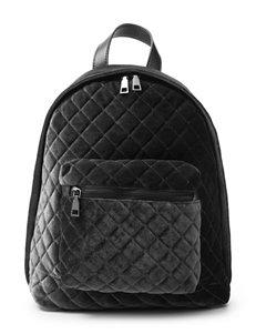 Olivia Miller Velvet Quilted Backpack