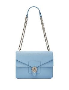 Anne Klein Diana Double Flap Chain Shoulder Bag