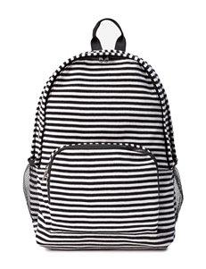 Madden Girl Black / White Bookbags & Backpacks