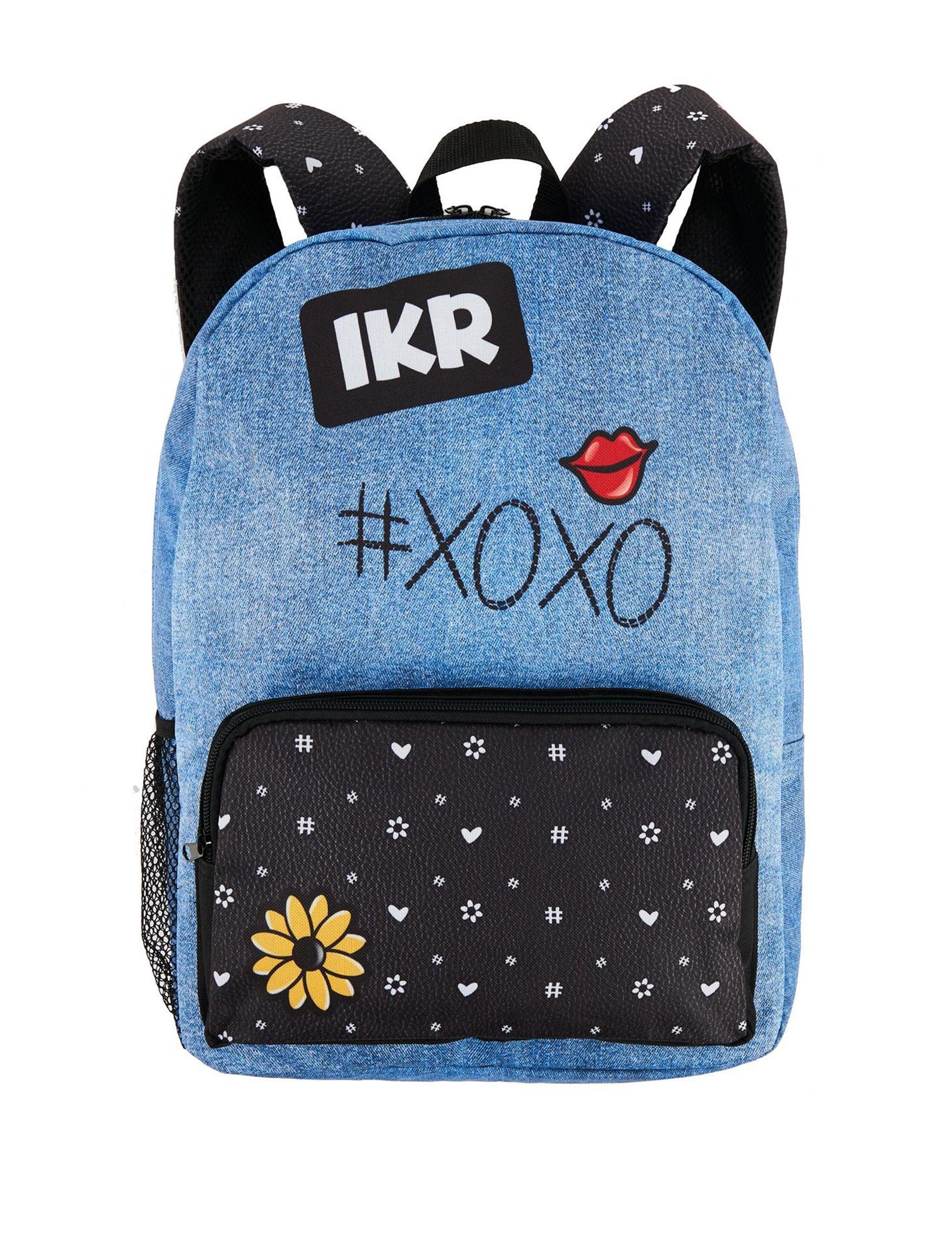 BuySeasons Denim Bookbags & Backpacks