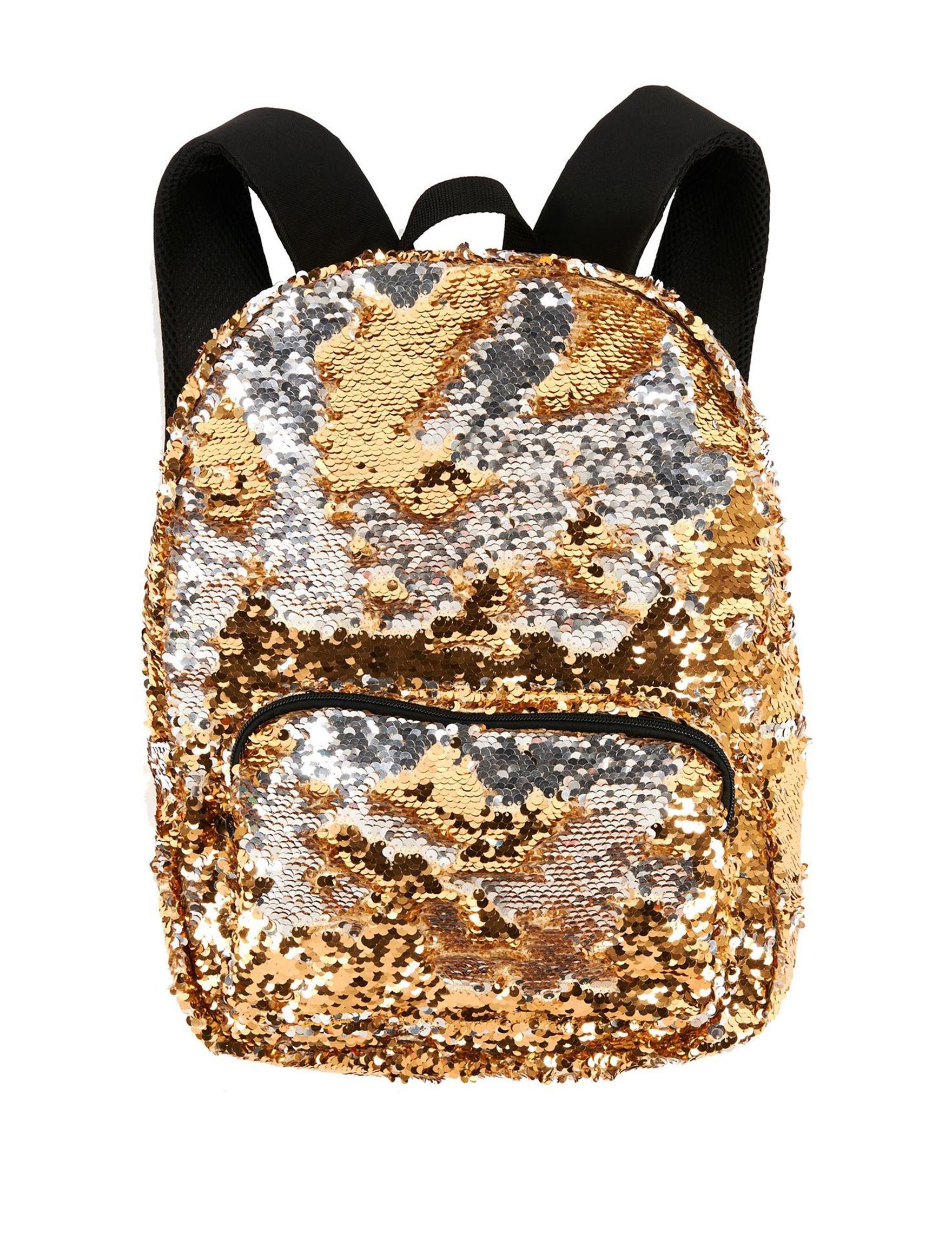 BuySeasons Gold Bookbags & Backpacks