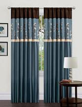 Lush Decor Cocoa Blossom Pair Of Curtains