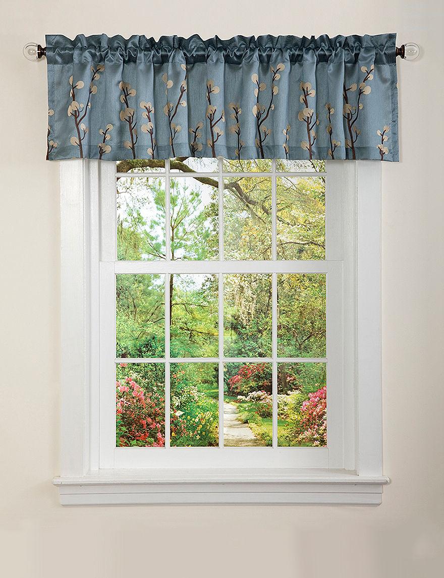 Lush Decor Blue Valances Window Treatments