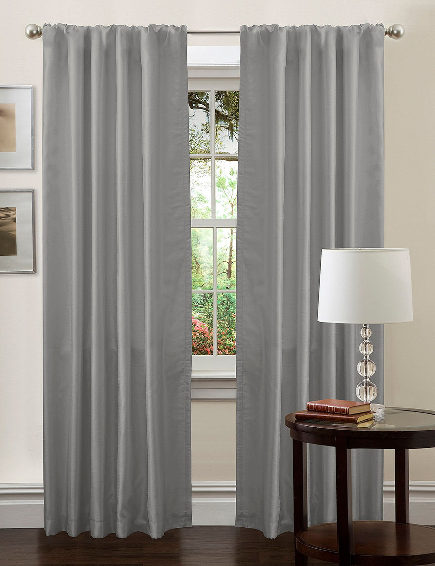 Lush Decor Silver Curtains & Drapes Window Treatments