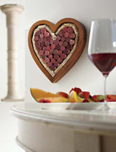 Wine Enthusiast Heart Shaped Corkboard / Trivet Kit