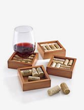 Wine Enthusiast 4-pc. Wine Cork Coasters Kit